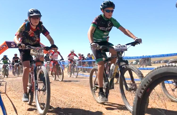 Lukas racing in Vernal, 2019