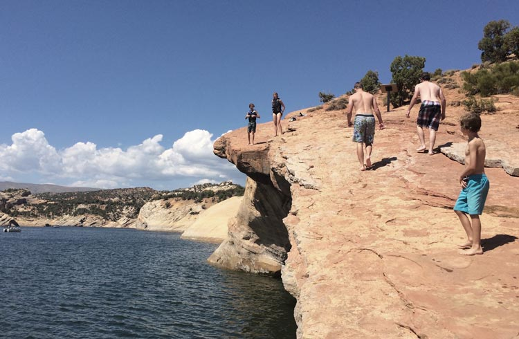 Cliff at reservoir in Vernal
